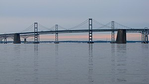 The Chesapeake Bay Bridge as viewed from Sandy...