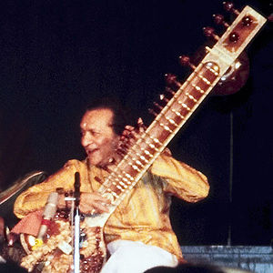 English: Master of Sitar, Ravi Shankar. Deutsc...
