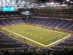 Nearly empty Ford Field