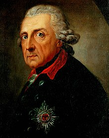 Frederick al II-lea la vârsta de 68 de ani, de Anton Graff