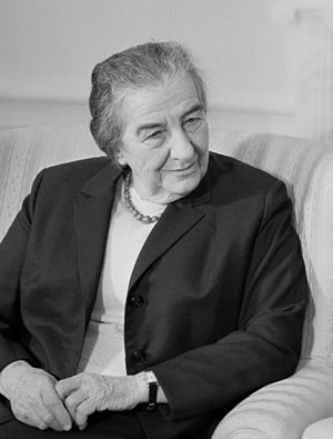 Golda Meir, disguised as an Arab, appealed to ...