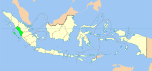 Location of West Sumatra home of the Minangkabau