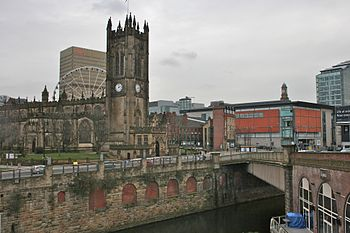 Manchester Cathedral, with the Manchester Cath...