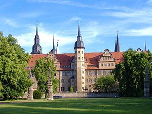 Deutsch: Sicht aus dem Schlossgarten auf das S...