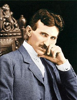 English: Nikola Tesla color