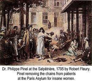 Dr. pinel unchains patients at the paris asylum