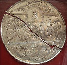 Юбилейный миссорий Феодосия Великого, изготовленный к 10-й годовщине его царствования.