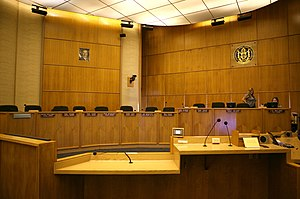 English: San Diego City Council chambers