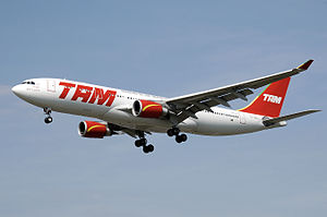 TAM Airbus A330-200 in the former livery