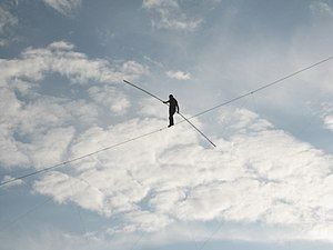 English: This is a photo of Nik Wallenda walki...
