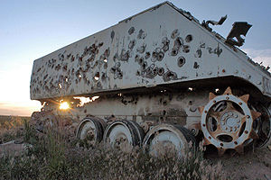 Used as a gunnery target at Cannon Range near ...