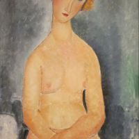 """Seated Nude"" by Amedeo Modigliani (Honolulu Museum of Art)"