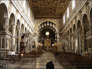 Interior of Santa Maria in Aracoeli, Rome.