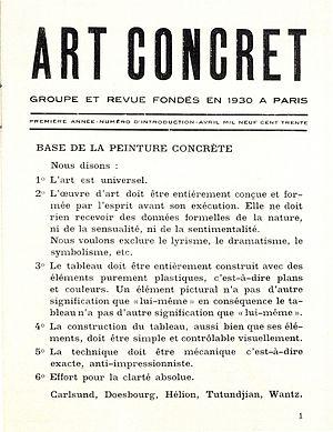 Theo van Doesburg, 'Base de la peinture concr&...