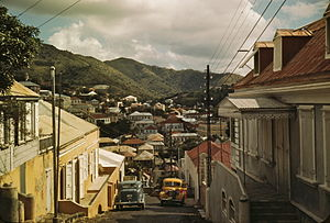 One of the steep streets on the hillsides, Cha...