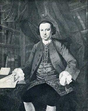Portrait of Christopher Smart upon receiving a...