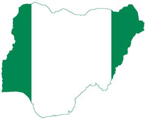 Flag-map of Nigeria