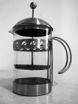 A French press coffeemaker