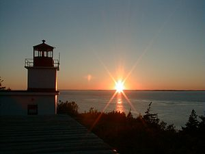 "English: Sunset at ""Whistle"" light h..."