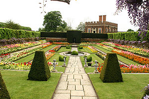 A garden recreated in the style of Henry VIII'...