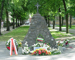 Memorial to KGB victims in Vilnius, Lithuania.