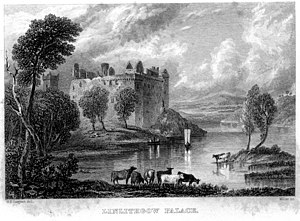 Linlithgow Castle engraving by William Miller ...
