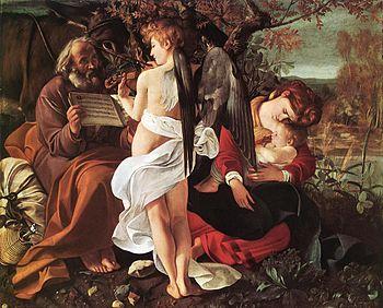 Michelangelo Merisi da Caravaggio - Rest on Fl...