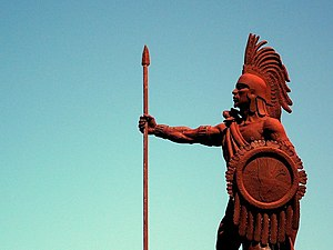 monument to native Mexican Aztec leader Cuauht...