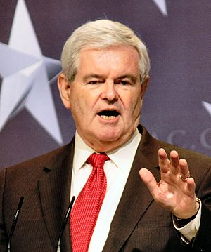 English: Former Speaker of the House at CPAC in .