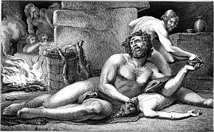 """Illustration from Schwab, Gustav: """"Sagen des K..."""