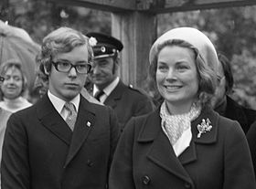 Prince Albert with his mother in 1972