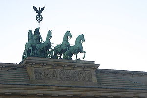Quadriga, Brandenburger-Tor, Berlin, Germany