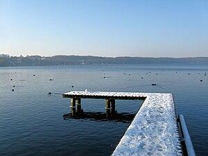 Lake Großer Ratzeburger See in Ratzeburg, dist...