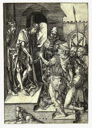 Martin Schongauer, Ecce Homo, Engraving 15. th...