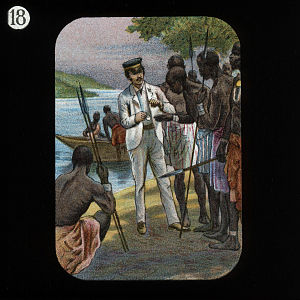 Showing Watch to Natives (David Livingstone) b...