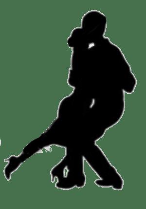 English: Silhouette of a couple dancing Tango