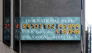 US national debt clock, 2008