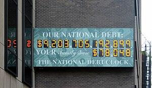 US national debt clock, 2008
