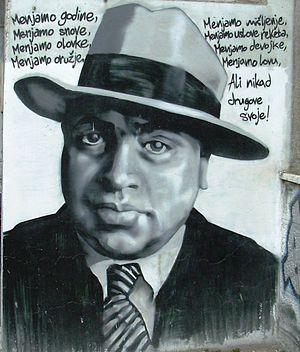 Српски / Srpski: Ал Капонем графит у Београду,...