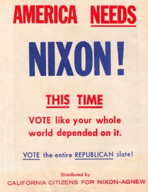 English: campaign item for 1968 Richard Nixon ...