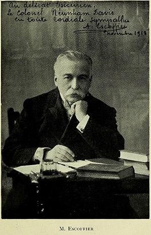 English: Photograph of Auguste Escoffier