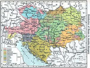 """Distribution of Races in Austria–Hungary..."