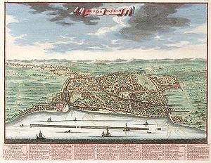 Banten City, year 1724