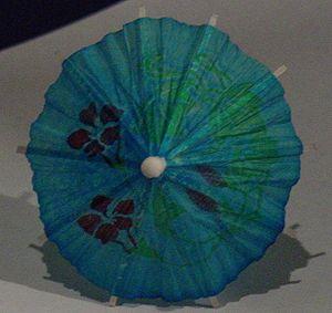 Cocktail umbrella top