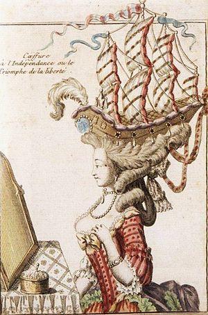 Exaggerated satircal caricature of ca. 1780 &q...