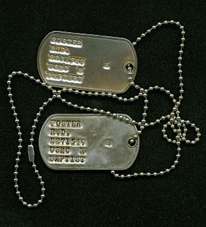English: USMC Dog tags, modern (Vietnam era).
