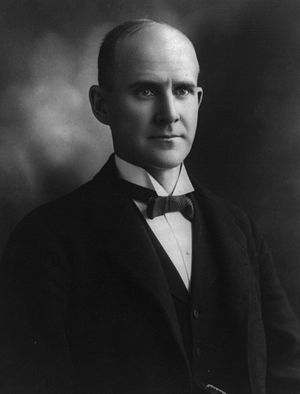 Eugene V. Debs photo portrait, half, facing right.