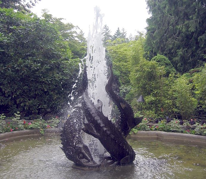 File:Fountain in Butchart Gardens, Victoria.JPG