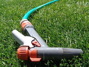 A garden hose pistol