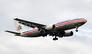 A newer model American Airlines Airbus A300-60...